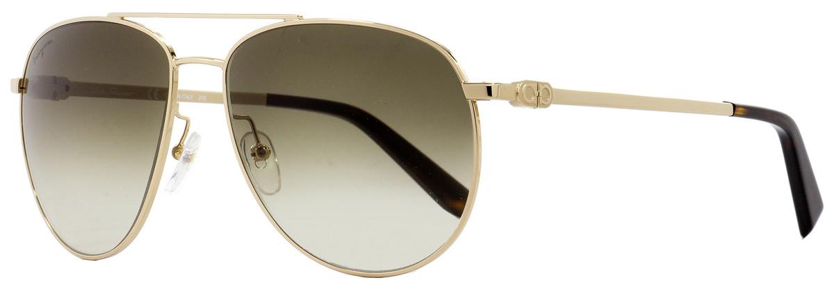 0a3d9a0acf Salvatore Ferragamo Aviator Sunglasses SF157S 717 Gold Havana ...