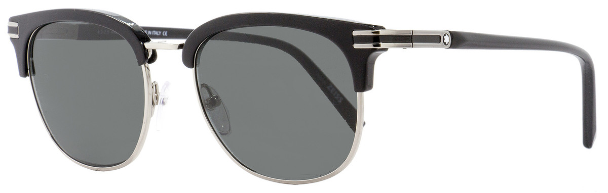 accdfc4ddf Your cart.  0.00. Check out Edit cart · Home   Sunglasses   Montblanc    Montblanc Oval Sunglasses MB701S 01A Shiny Black Palladium ...