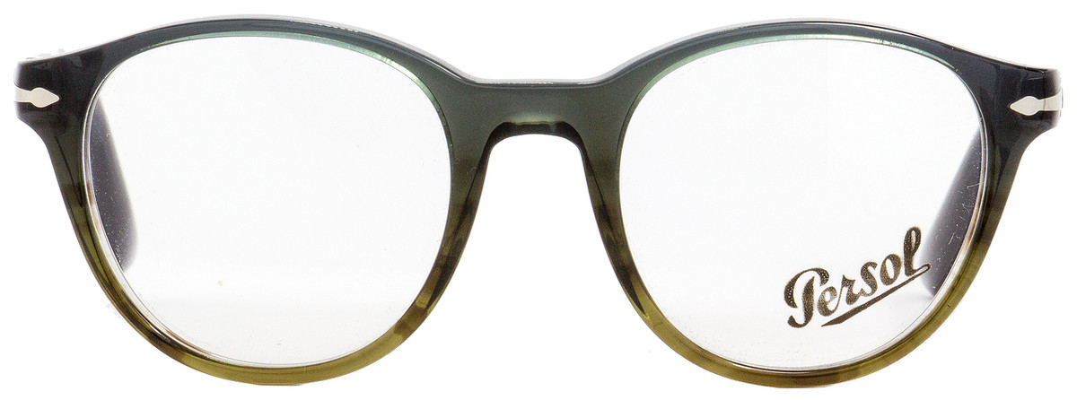 448e572079a83 Persol Oval Eyeglasses PO3153V 1012 Green Blue Brown 48mm 3153