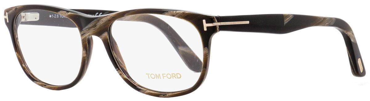 817966d1d76 Your cart.  0.00. Check out Edit cart · Home   Eyeglasses   Tom Ford   Tom  Ford Rectangular Eyeglasses TF5431 062 Brown Horn 53mm FT5431
