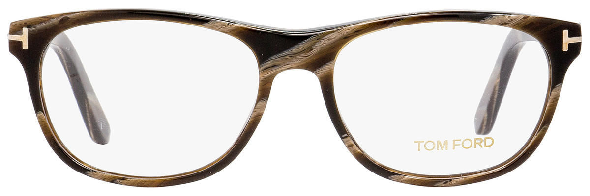 322f76e204005 Tom Ford Rectangular Eyeglasses TF5431 062 Brown Horn 53mm FT5431