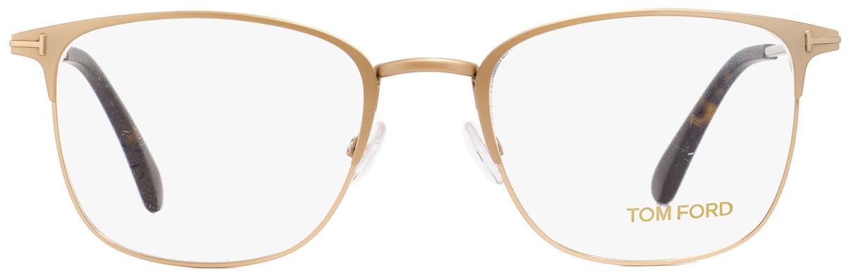 843bc3d18f69 Tom Ford Rectangular Eyeglasses TF5453 029 Matte Gold Havana 54mm FT5453