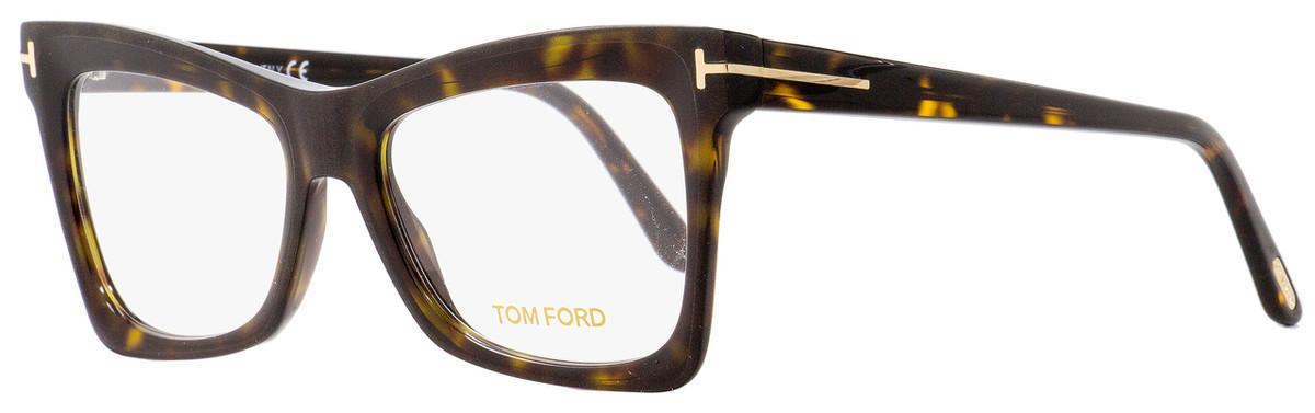 1605e82f37 Tom Ford Butterfly Eyeglasses TF5457 052 Matte Shiny Havana ...