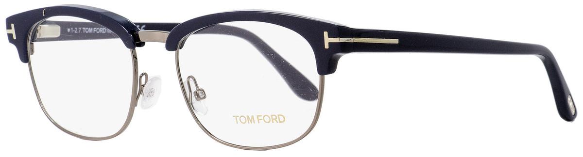 23bc7c8b5 Tom Ford Rectangular Eyeglasses TF5458 090 Dark Blue/Dark ...