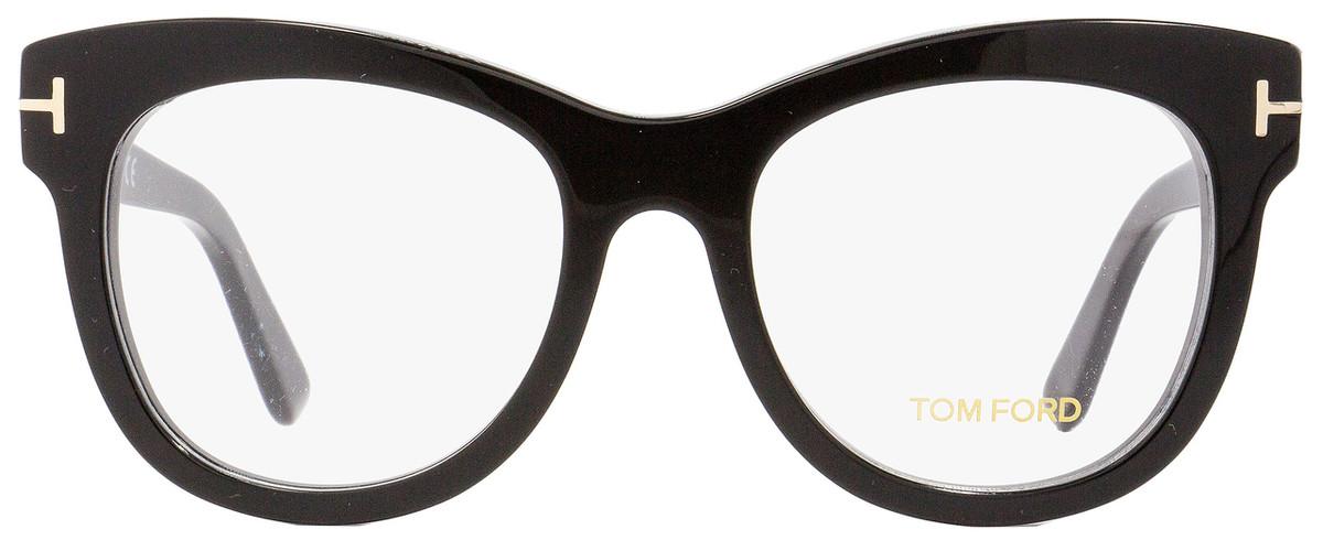 c20f41bfc34 Tom Ford Oval Eyeglasses TF5463 001 Shiny Black 52mm FT5463