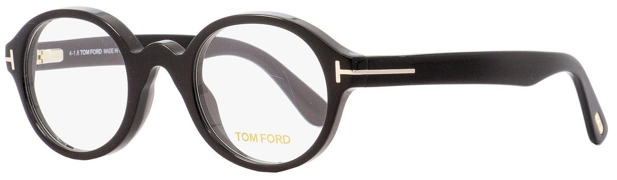 58c275ad004 Tom Ford Round Eyeglasses TF5490 001 Black 46mm FT5490