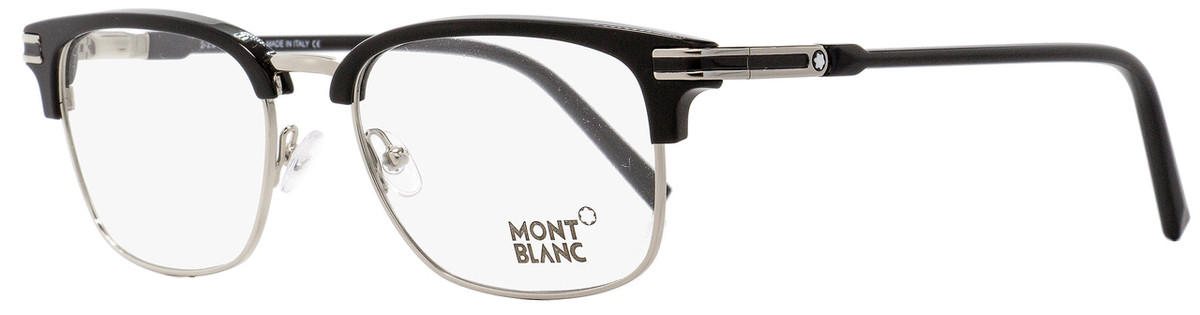 c48cc14084b7 Your cart. $0.00. Check out Edit cart · Home / Eyeglasses / Montblanc / Montblanc  Rectangular Eyeglasses MB669 001 Palladium/Black ...