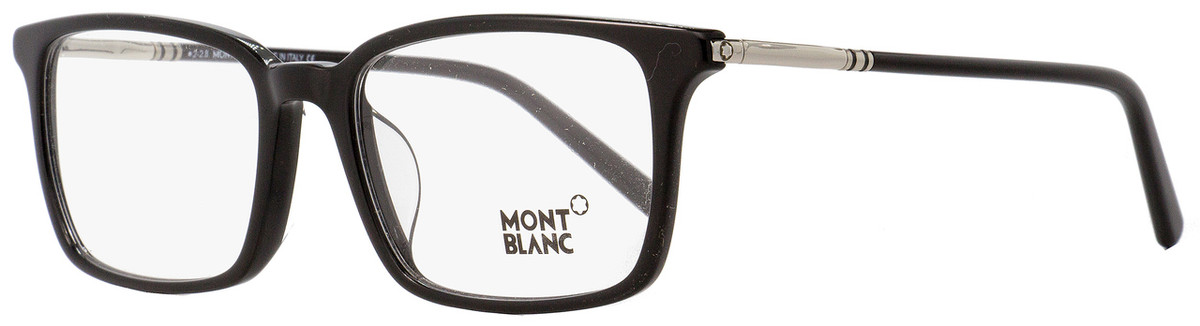 972d680fc7e0 Your cart. $0.00. Check out Edit cart · Home / Eyeglasses / Montblanc / Montblanc  Rectangular Eyeglasses MB742D 001 Black/Palladium ...