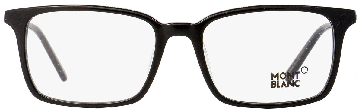 a833b11a0d43 Montblanc Rectangular Eyeglasses MB742D 001 Black/Palladium 55mm 742