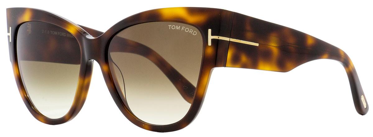 b7ee6a7a0f4a5 Tom Ford Cateye Sunglasses TF371 Anoushka 53F Havana 57mm ...