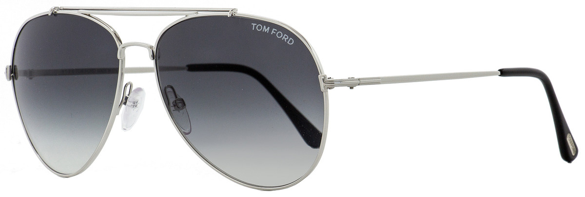 48ee1a999ee18 Tom Ford Aviator Sunglasses TF497 Indiana 18B Rhodium Black ...