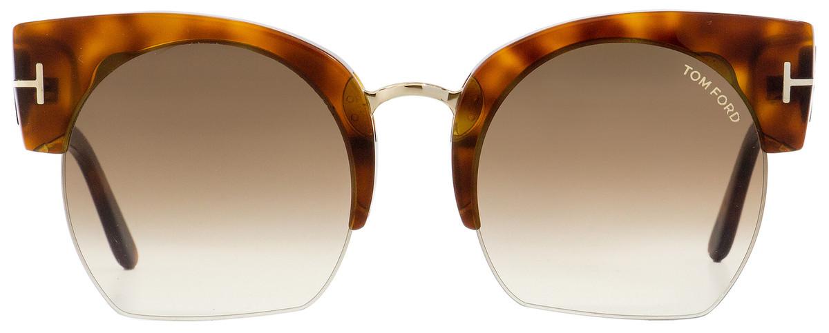 599a97d531fc2 Tom Ford Oval Sunglasses TF552 Savannah-02 53F Blonde Havana 55mm FT0552