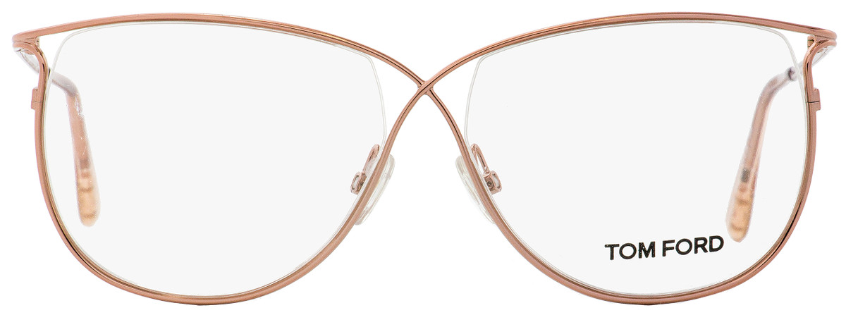 d4aef80a9ea25 Your cart.  0.00. Check out Edit cart · Home   Eyeglasses   Tom Ford   Tom  Ford Butterfly Eyeglasses TF5145 072 Rose Peach 54mm FT5145