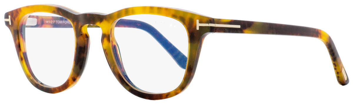 65a5b679d12db Tom Ford Blue Block Eyeglasses TF5488B 055 Vintage Yellow ...