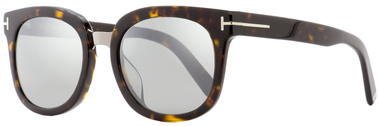 Tom Ford TF 503 52Z Philippa Women sunglasses Havana Brown Gold Flash Mirror New