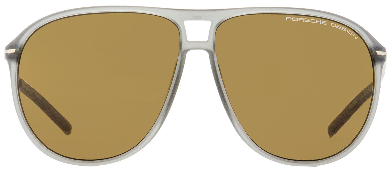Porsche Design Oval Sunglasses P8635 C Transparent Gray//Bronze 61mm 8635