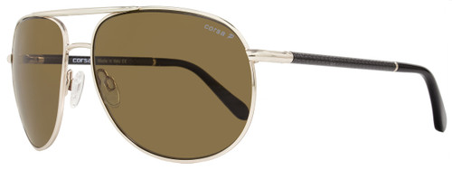 Corsa Aviator Sunglasses Marko C01 Light Gold/Carbon Fiber Polarized