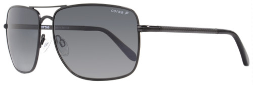 Corsa Rectangular Sunglasses Enzo C03 Shiny Black/Carbon Fiber Polarized
