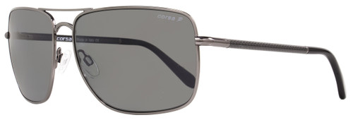 Corsa Rectangular Sunglasses Enzo C06 Gunmetal/Carbon Fiber Polarized