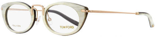 Tom Ford Oval Eyeglasses TF5257 028 Size: 50mm Ivory Buffalo Horn/Gold Plated 5257
