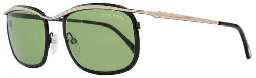 Tom Ford Rectangular Sunglasses TF419 Marcello 05N Shiny Black/Gold FT0419