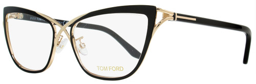 Tom Ford Butterfly Eyeglasses TF5272 005 Size: 53mm Rose Gold/Black FT5272