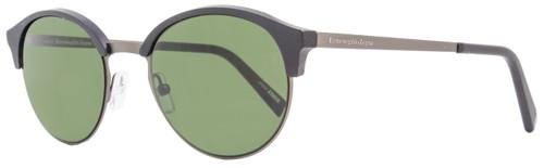 Ermenegildo Zegna Round Sunglasses EZ0046 02N Matte Black/Gunmetal 46