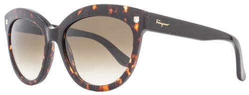 Salvatore Ferragamo Oval Sunglasses SF675S 214 Tortoise 675