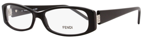 Fendi Rectangular Eyeglasses F597R 001 Size: 52mm Shiny Black 597