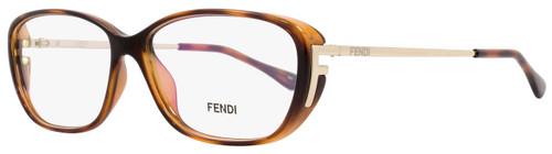 Fendi Oval Eyeglasses F969 238 Size: 55mm Havana 969
