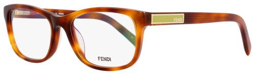 Fendi Rectangular Eyeglasses F980 218 Size: 52mm Light Havana 980