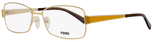 Fendi Rectangular Eyeglasses F1041 714 Size: 54mm Shiny Gold/Ochre 1041