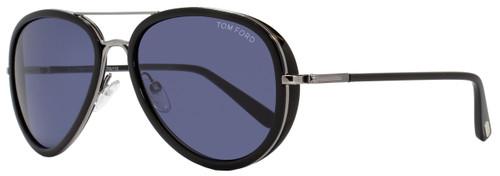 Tom Ford Aviator Sunglasses TF341 Miles 14V Ruthenium/Black FT0341