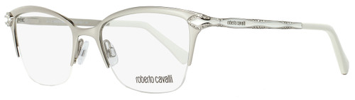 Roberto Cavalli Semi-Rimless Eyeglasses RC861 Diadema 024 Size: 50mm Palladium/White 861