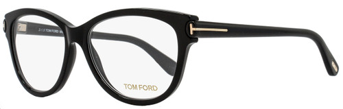 Tom Ford Oval Eyeglasses TF5287 002 Size: 55mm Shiny Black FT5287