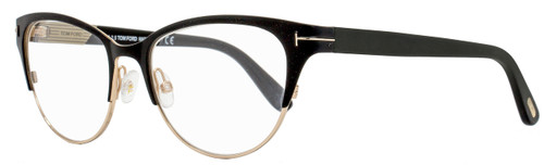 Tom Ford Cateye Eyeglasses TF5318 002 Size: 53mm Satin Black/Gold FT5318