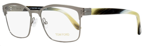 Tom Ford Rectangular Eyeglasses TF5323 008 Size: 54mm Satin Gunmetal/Horn FT5323