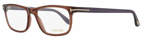 Tom Ford Rectangular Eyeglasses TF5356 048 Size: 53mm Transparent Brown/Violet FT5356