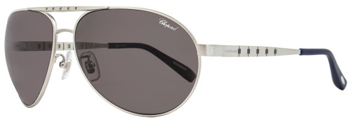 Chopard Aviator Sunglasses SCHB01M S80Z Satin Palladium Polarized B01