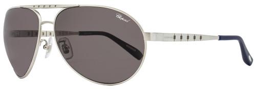 Chopard Aviator Sunglasses SCHB01 S80Z Satin Palladium Polarized B01