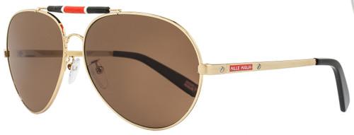 Mille Miglia by Chopard Aviator Sunglasses SMMA09 H16P Gold/Black Polarized A09