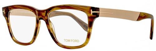 Tom Ford Square Eyeglasses TF5372 048 Size: 54mm Brown Melange/Gold FT5372