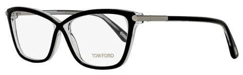 Tom Ford Butterfly Eyeglasses TF5375 005 Size: 53mm Black/Crystal FT5375