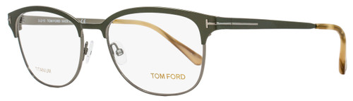 Tom Ford Oval Eyeglasses TF5381 093 Size: 54mm Olive Green/Ruthenium FT5381