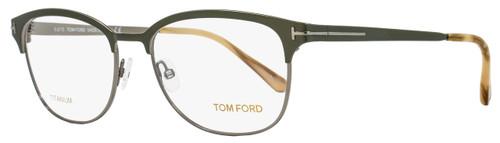 Tom Ford Oval Eyeglasses TF5381 093 Size: 54mm Olive Green/Ruthenium FT5381