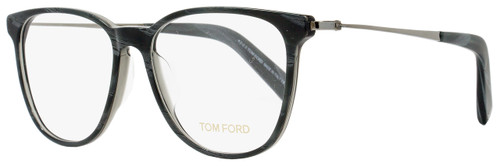 Tom Ford Oval Eyeglasses TF5384 020 Size: 53mm Gray Horn/Ruthenium FT5384