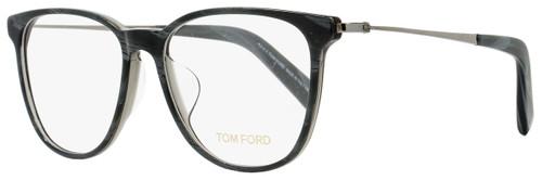 Tom Ford Oval Eyeglasses TF5384F 020 Size: 53mm Gray Horn/Ruthenium FT5384