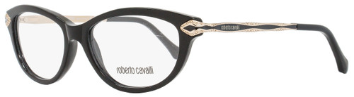 872030d6d61 Roberto Cavalli Cateye Eyeglasses RC813 Alkalurops 001 Size  52mm Shiny  Black Gold 813