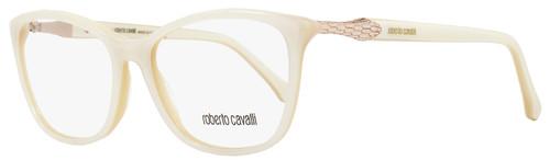 Roberto Cavalli Rectangular Eyeglasses RC952 Sadalmelik 024 Size: 54mm Ivory/Gold 952