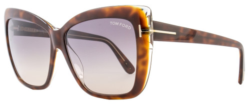 Tom Ford Square Sunglasses TF390 Irina 53F Darl Havana/Crystal FT0390